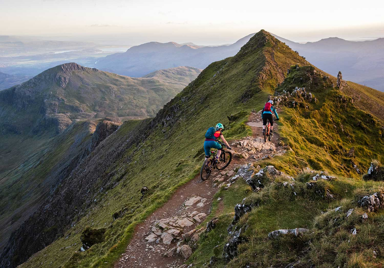 Mountain bike trail in Snowdonia, Wales